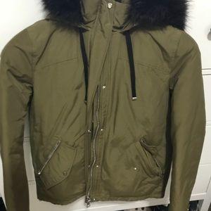 Zara - Army Green Puffer Jacket